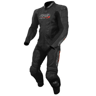 Armr Harada S Motorcycle Motorbike Leather 1 One Piece Suit - Black