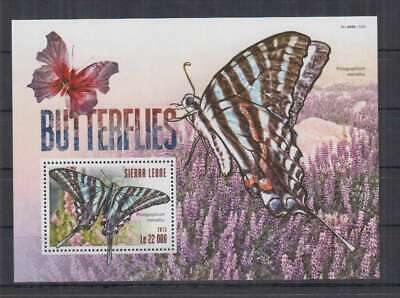 S217. Sierra Leone - MNH - 2015 - Nature - Fauna - Insects - Butterflies - Bl
