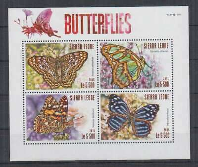 S217. Sierra Leone - MNH - 2015 - Nature - Fauna - Insects - Butterflies