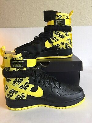 Nike SF AF1 Air Force One High Dynamic Yellow Black AR1955 001 Men s Size 10 233220630