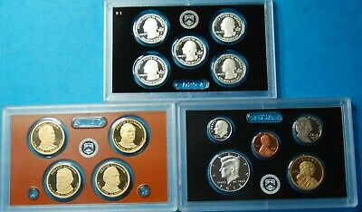 2012 US Mint Silver Proof Set, COA, Display cases, Box, 14 Coins   Free Shipping