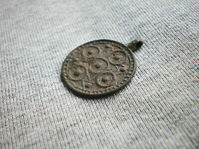 Gorgeous Ancient Rare Authentic Viking Pendant Amulet Symbols 9 - 10 century AD