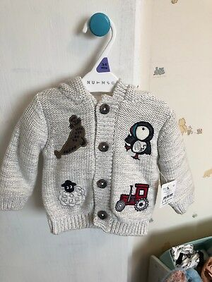 Nutmeg Thick 3-6 Month Lines Coat Jacket Bnwt