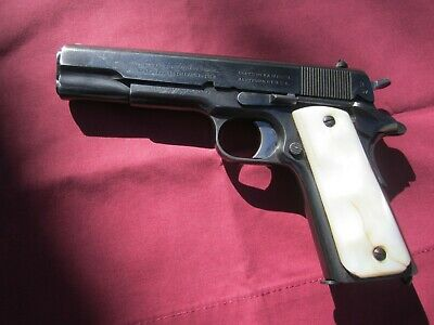 GENUINE MOTHER OF Pearl Pistol Grips for Colt 1911