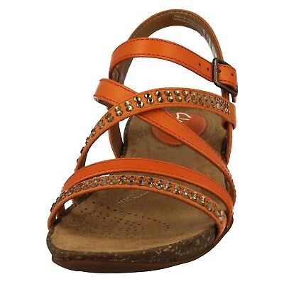 6c75b84050441f CLARKS AUTUMN PEACE Womens White Leather Sandals Uk Size 8 - £23.00 ...