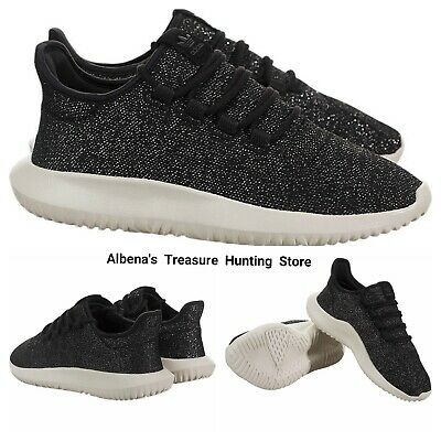 0c67cef9580be NWT ADIDAS Women s Tubular Shadow Training Shoes Black Metallic Silver Size  9