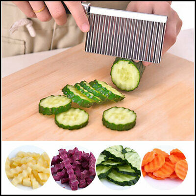 Crinkle Chopper Stainless Steel Potato Chip Dough Vegetable Wavy Cutter Blade To