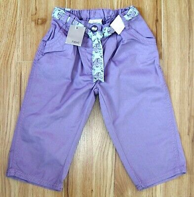 Bnwt Girls Next Lilac Cropped Pants 3-4 Yrs New Jeans Party Top Christmas Smart