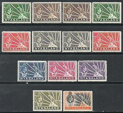 NYASALAND 1938-42 Short set to 1/- MH
