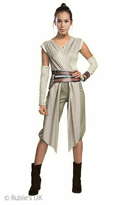 Rey Womens Disney Star Wars  Costume Ladies Fancy Dress Outfit