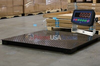 "5 Year Warranty 7,000 lb 40"" x 40"" Floor Scale Weighing Pallets Indicator"