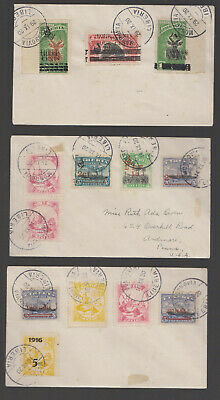 Liberia - 3 Cover 1920 With Different Stamps With Variety