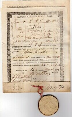 John Forsyth / pair of pro-forma documents accomplished in manuscript Signed