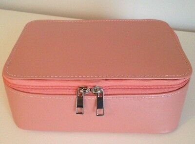 Pink Make up Case in Genuine Leather