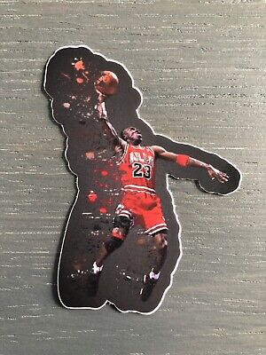 Michael Jordan Vinyl Sticker Bulls White Jersey 23 Art High Quality HIP HOP