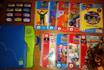Leap Frog LeapPad 9 books & 12 learning system games lot (Read Description)