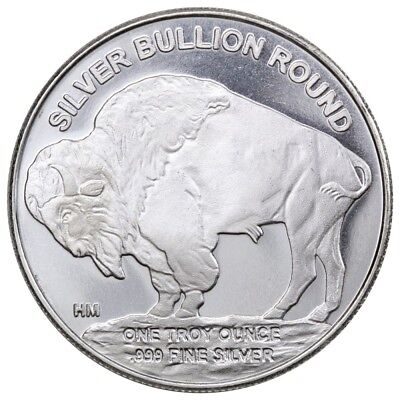 Buffalo Highland Mint 1oz .999 Fine Silver Round