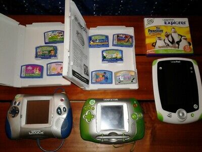 3 Leapster Leap Frog Pad Learning Systems & 10+ games big lot