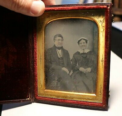 Antique daguerreotype photo of husband and wife #6720