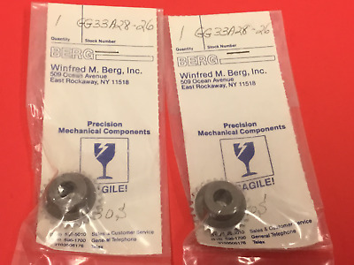WILFRED M.BERG,Inc.- P/N: GG33A28-26 - Gears - Lot of (2) - NEW