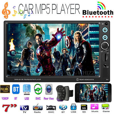 2DIN 7''Android Car HD Touch Screen Stereo MP5 Player BT FM Radio AUX Head Unit