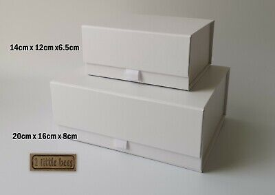 Luxury Magnetic GIFT BOX Birthday White Wedding Bridesmaid Gift ideas Hamper UK