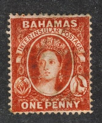 BAHAMAS #2 LIGHTLY USED PERF 14 Cat. Value= $300.00