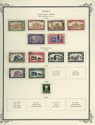 Italy Scott Specialty Album Page Lot #125 - BACK OF BOOK - SEE SCAN - $$$