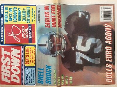 First Down American Football Weekly Newspaper  No 312  6/6/92 (Nfl)