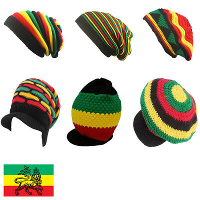 cccd8e771 RASTA HAT JAMAICA Rastafari Roots Africa Marley Cap Reggae Cotton  Dreadlocks Hot