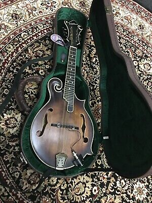 Washburn Vintage M118SWK  Mandolin With Case,Pickup And Strap, Strings! Awesome!