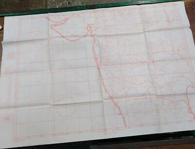 Aeronautical Chart India West War Office Issued  c1941 Plotting Series NE13/66