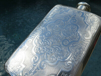 TIFFANY RARE Antique Sterling SILVER FLASK CONTAINER Handmade LARGE HEAVY OLD NR