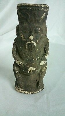 RARE ANCIENT EGYPTIAN ANTIQUE AMULET BES Limestone Statue Old Kingdom BC