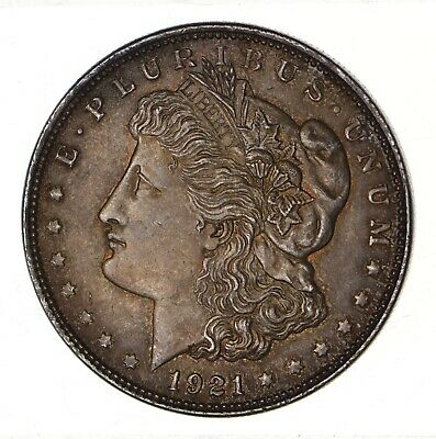 1921 - Morgan Silver Dollar - Last Year - 90% - US Coin *140