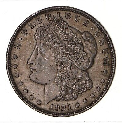 1921 - Morgan Silver Dollar - Last Year - 90% - US Coin *152