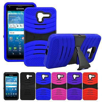 Shockproof Heavy Duty Armor Box Case Stand Cover For Kyocera Hydro Reach / C6743