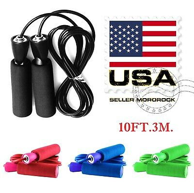 Gym Aerobic Exercise Boxing Skipping Jump Ropes Adjustable Bearing Speed Fitness