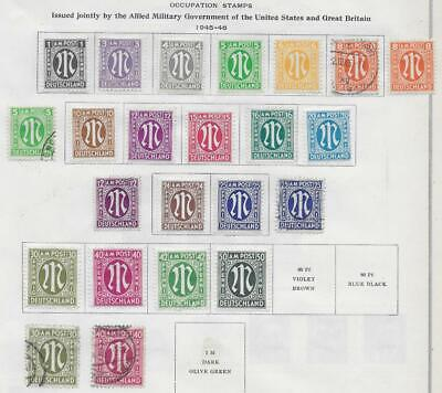 23 Germany Occupation Stamps from Quality Old Album 1945-1946