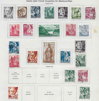 23 Germany Occupation Stamps from Quality Old Album 1947-1949