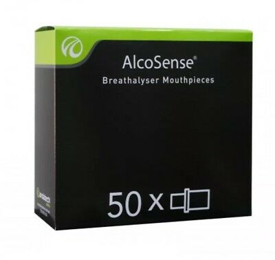 AlcoSense Breathalyser Mouthpieces x 50
