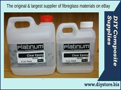 EPOXY RESIN 2:1 SUPER CLEAR Casting 3 Ltr. kit UV (Platinum) Art, Jewellery