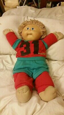 Vintage Cabbage Patch Kid 1978 1982 Pa 1044 31 Blue Red Pants Shirt Doll 1 Tooth 7 15 Picclick