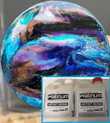 EPOXY ARTIST RESIN - SUPER CLEAR coating - UV stable 1 ltr kit