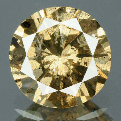 0.73 cts. CERTIFIED Round Brilliant Cut Brown Color Loose Natural Diamond 11703