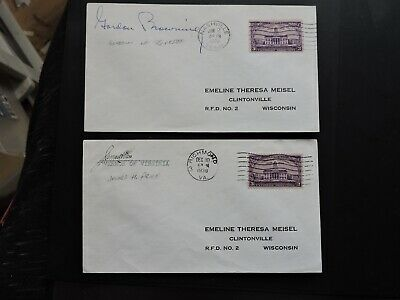 1938-39 Covers Signed Governor Of Va & Tn ! Gordon Browning + James H Price L@@k