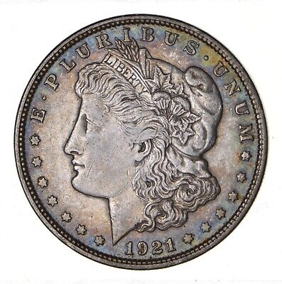 1921 - Morgan Silver Dollar - Last Year - 90% - US Coin *161