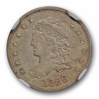 1829 Capped Bust Half Dime LM-10 H10C NGC AU 50 About Uncirculated R-5 Variety