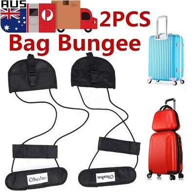 2pcs Travel Luggage Suitcase Carry On Storage Bag Adjustable Tapes Strap Bungee