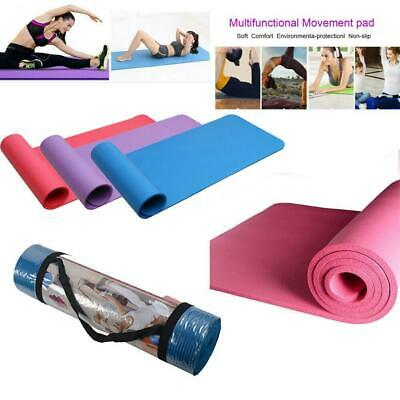 """Scavo NBR Yoga Mat 0.4/"""" Thick Exercise Fitness Pilates Camping Gym Pad Non-Slip"""